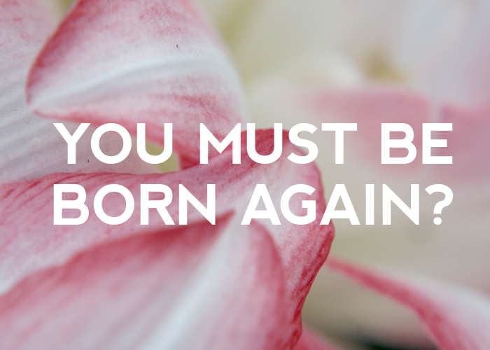 YOU MUST BE BORN AGAIN?
