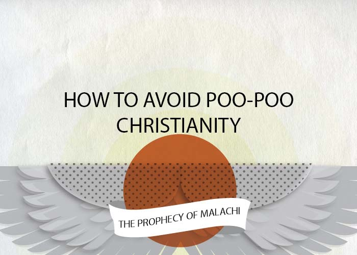 HOW TO AVOID POO-POO CHRISTIANITY