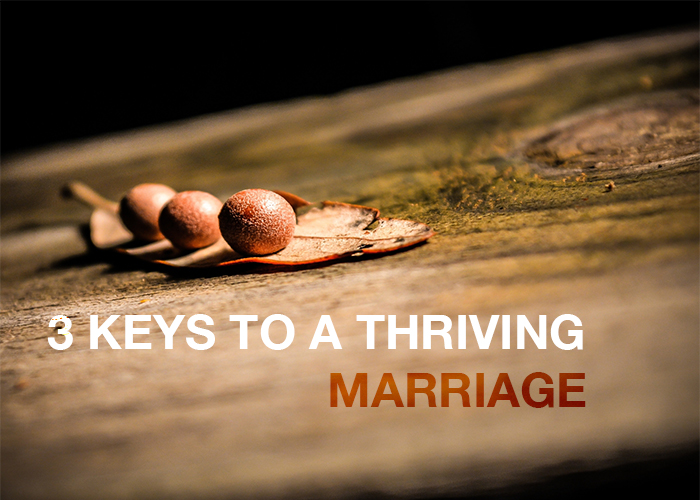 3 KEYS TO A THRIVING MARRIAGE