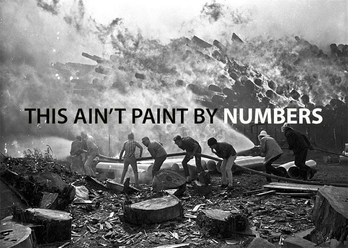 THIS AIN'T PAINT BY NUMBERS