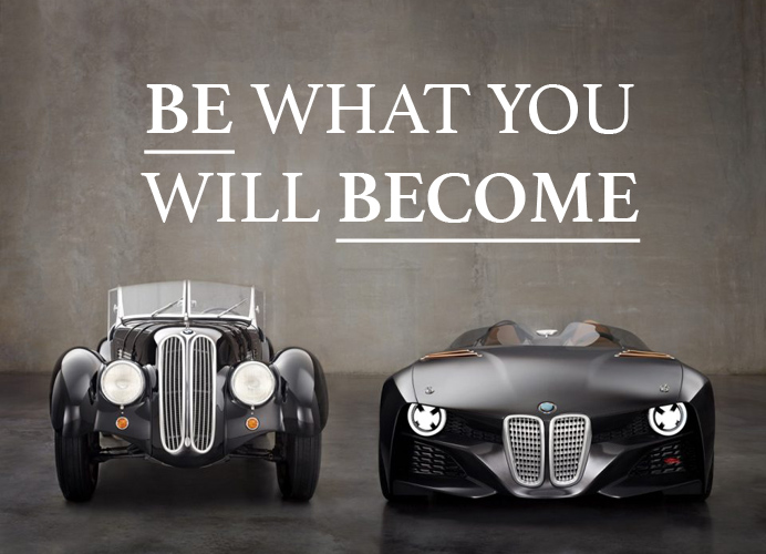 BE WHO YOU WILL BECOME
